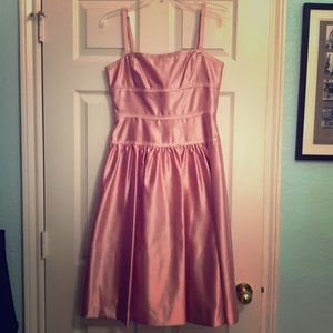BCBG MAXAZRIA Pink Satin Midi Dress